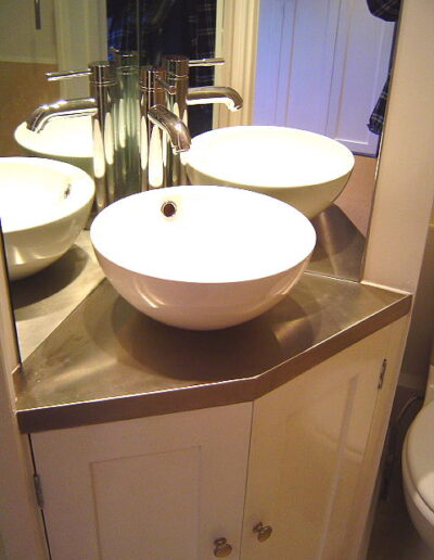Example of sink installed for customer