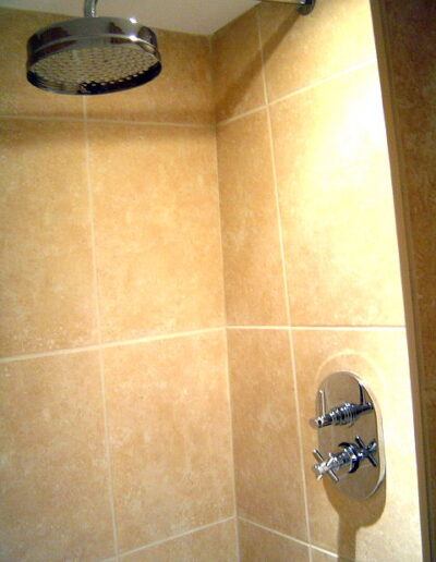Image of a waterfall shower installation