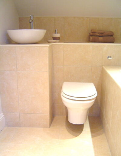 Image of a bathroom toilet install
